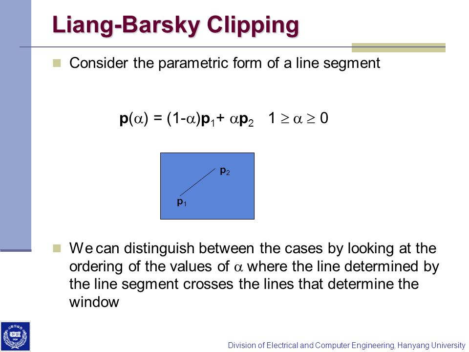 Liang-Barsky Clipping