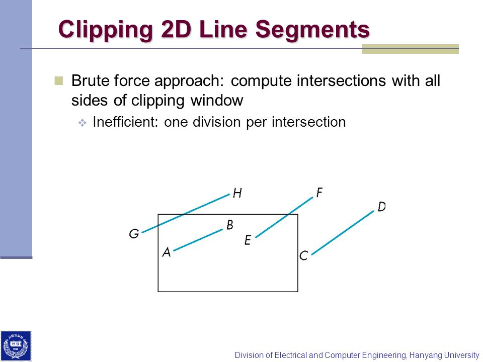 Clipping 2D Line Segments