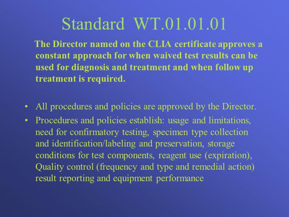 Standard WT.01.01.01