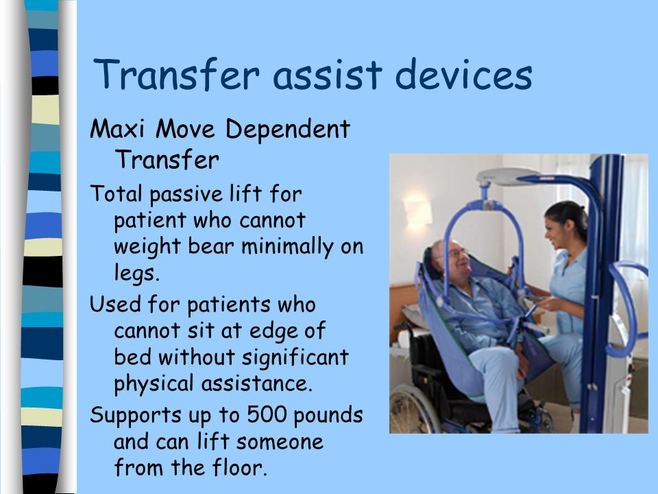 Transfer assist devices