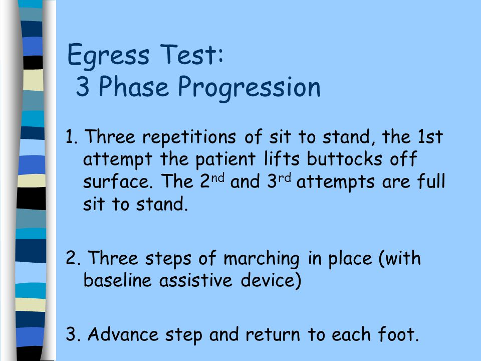 Egress Test: 3 Phase Progression