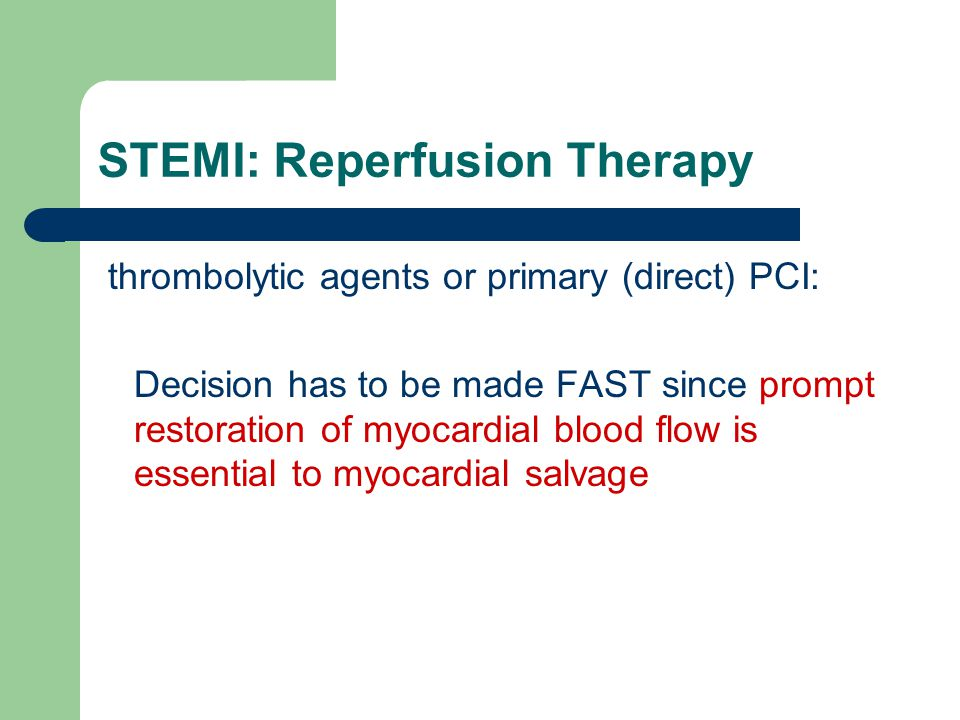 STEMI: Reperfusion Therapy