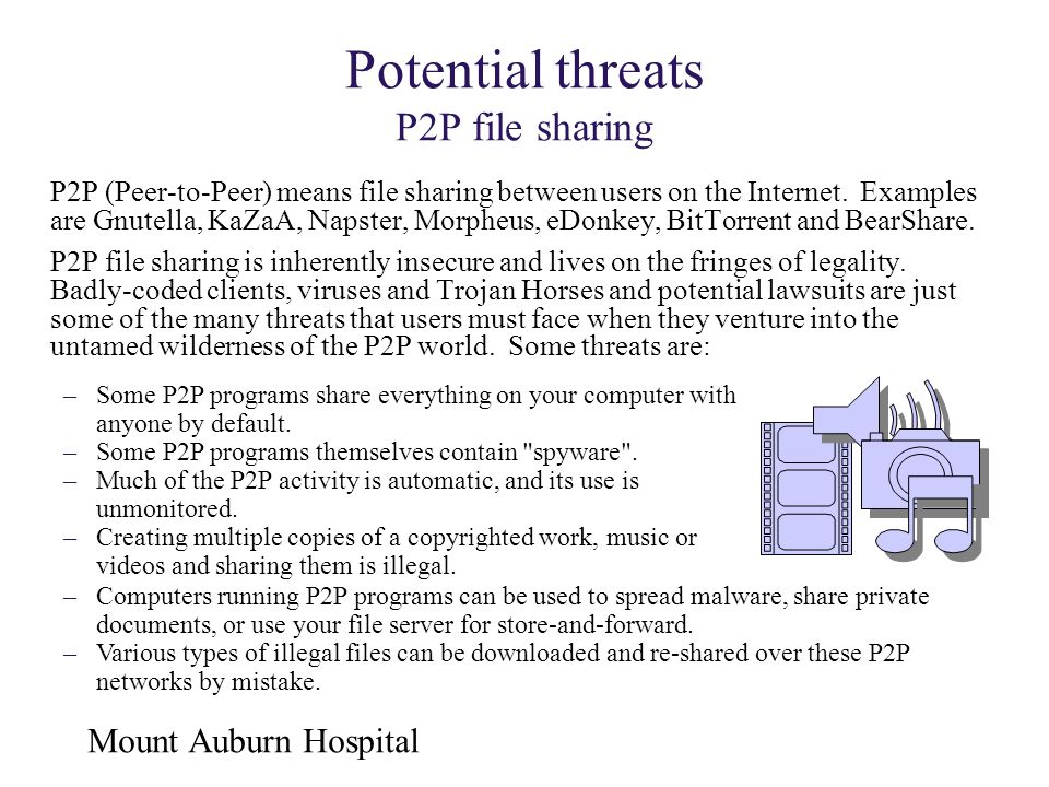 Potential threats P2P file sharing