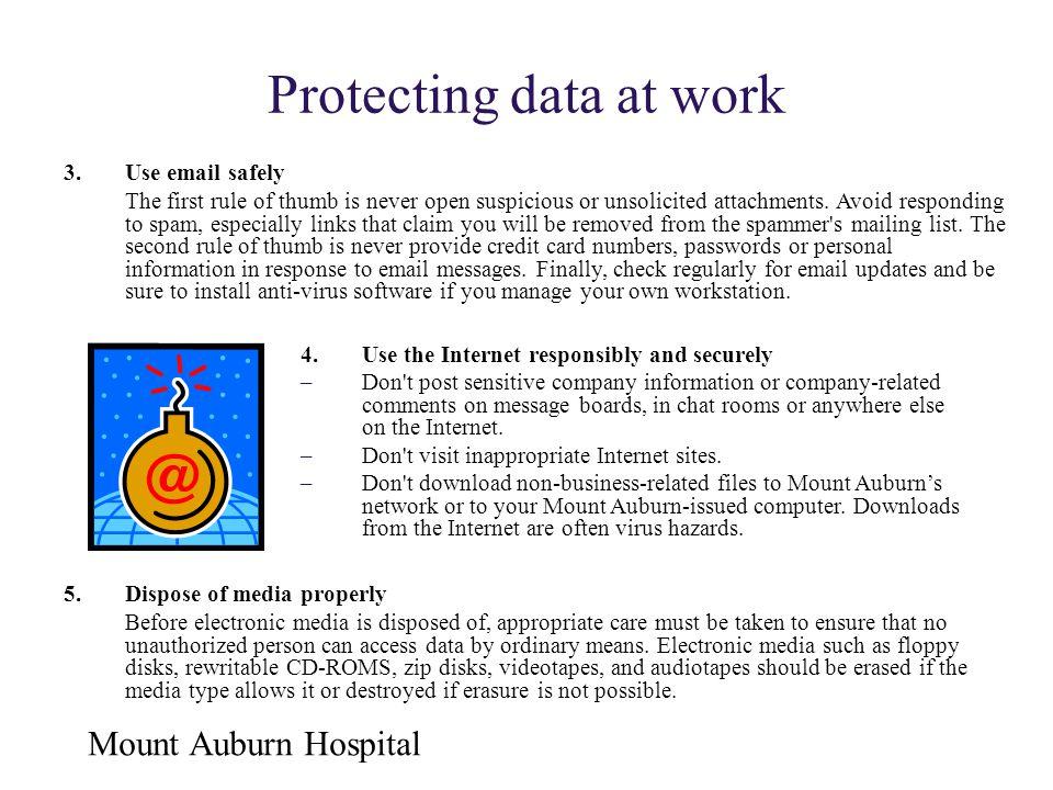 Protecting data at work