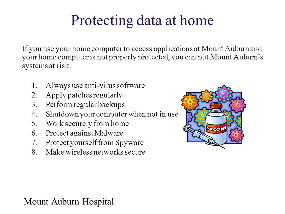 Protecting data at home