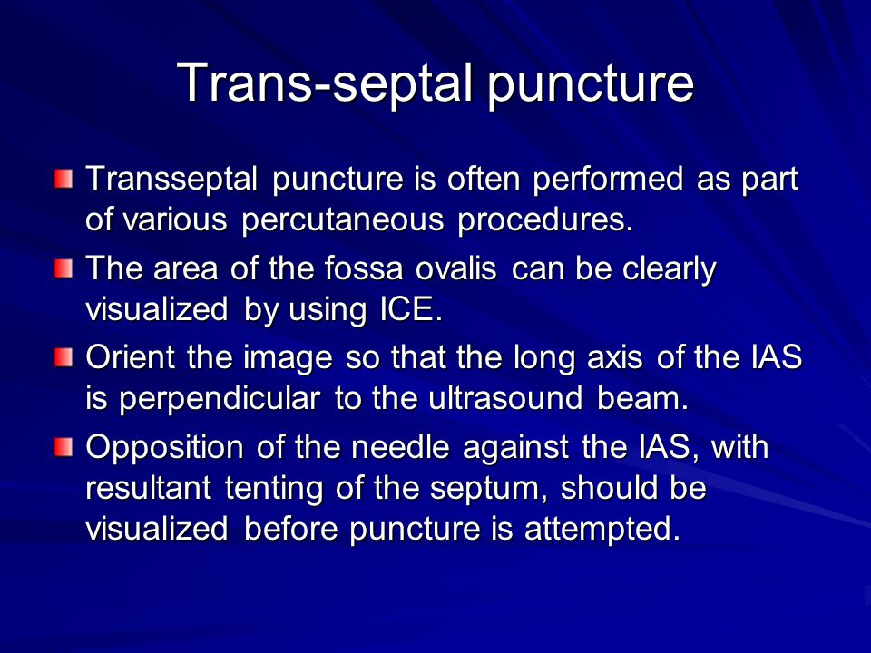 Trans-septal puncture