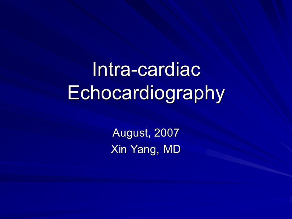 Intra-cardiac Echocardiography