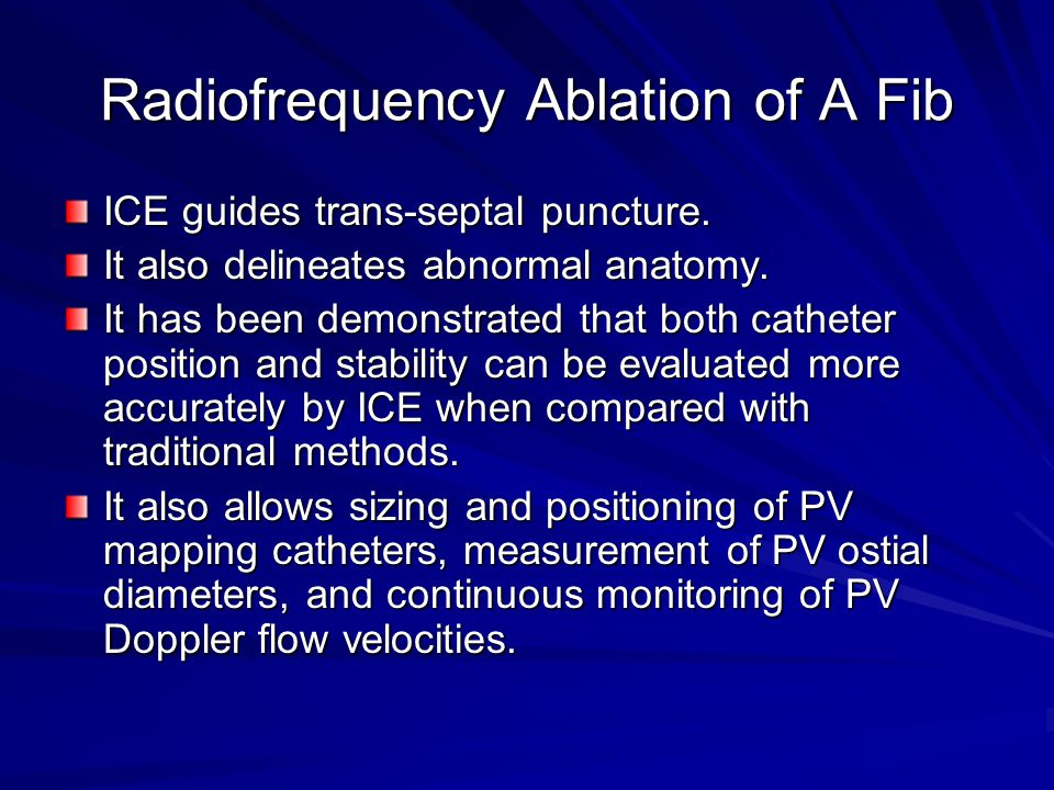 Radiofrequency Ablation of A Fib