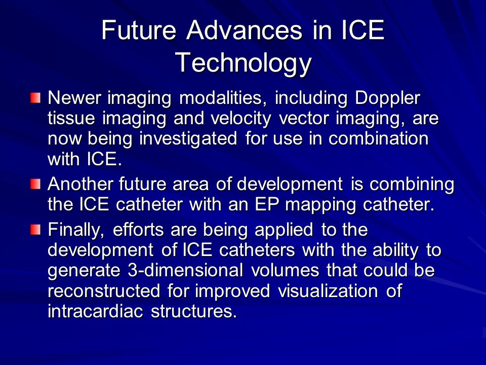 Future Advances in ICE Technology