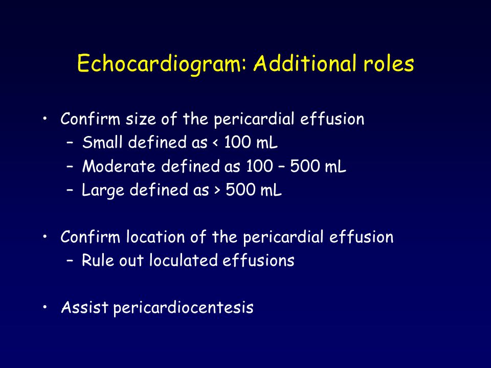 Echocardiogram: Additional roles
