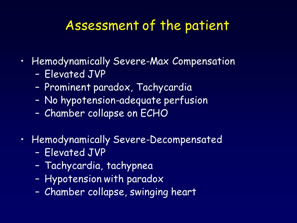 Assessment of the patient