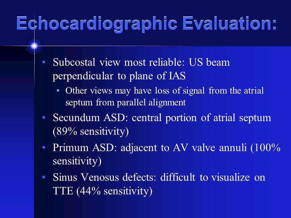 Echocardiographic Evaluation:
