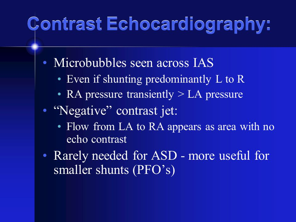 Contrast Echocardiography: