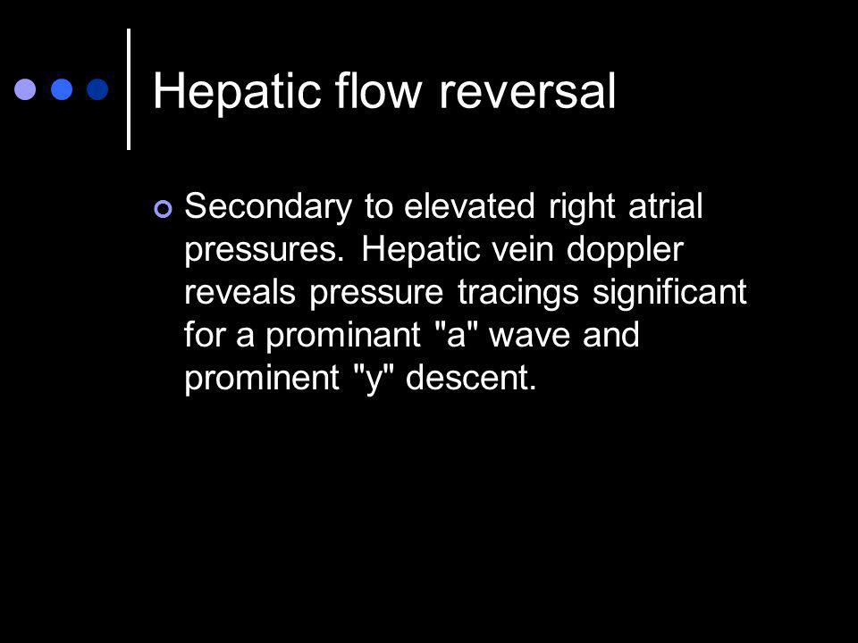 Hepatic flow reversal