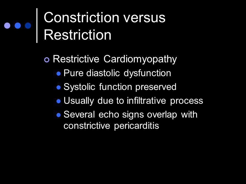 Constriction versus Restriction