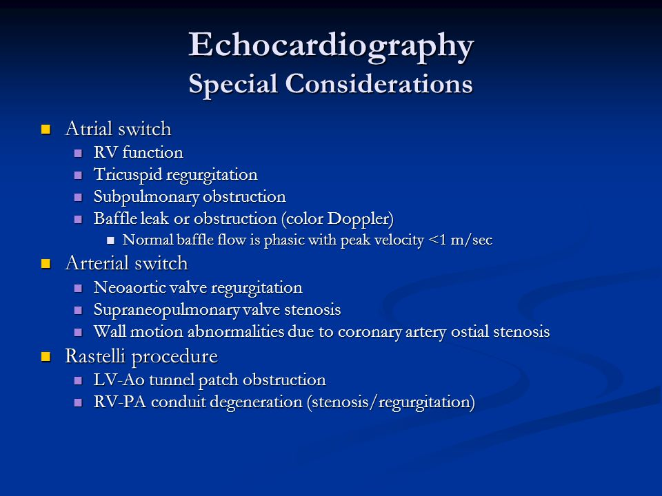 Echocardiography Special Considerations