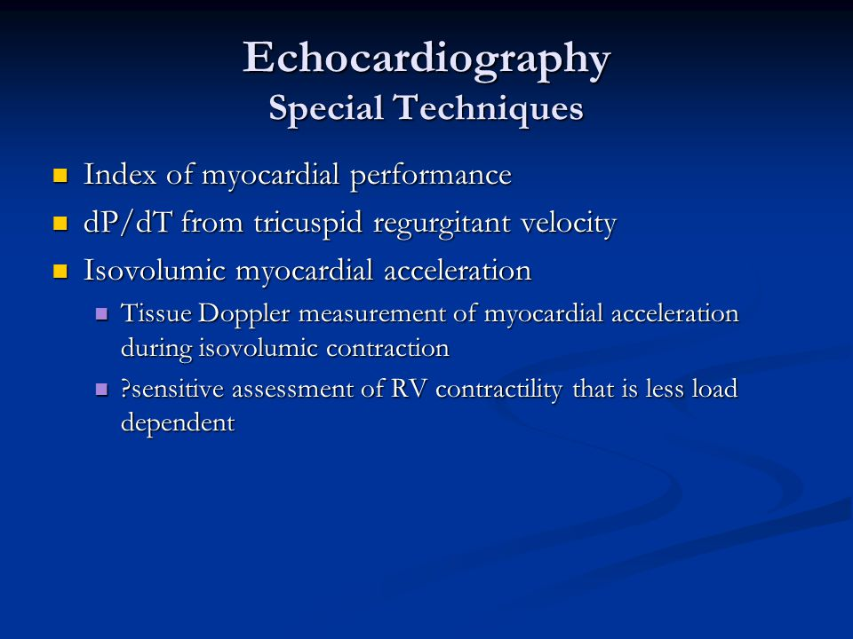 Echocardiography Special Techniques