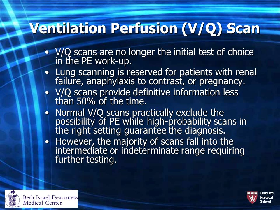 Ventilation Perfusion (V/Q) Scan