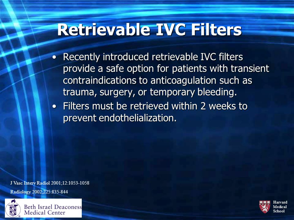 Retrievable IVC Filters
