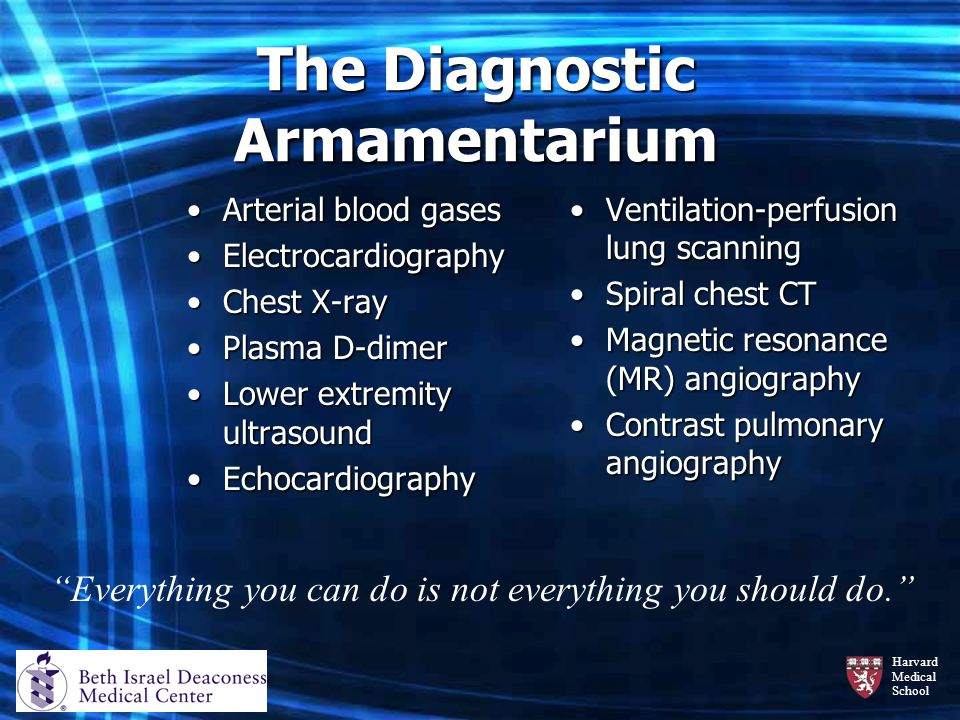 The Diagnostic Armamentarium