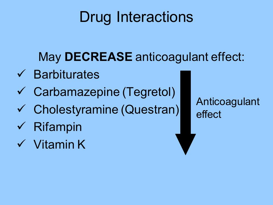 May DECREASE anticoagulant effect: