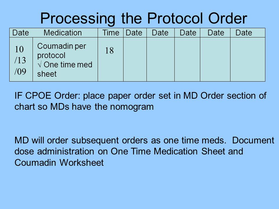 Processing the Protocol Order