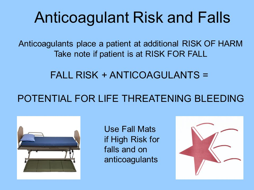 Anticoagulant Risk and Falls