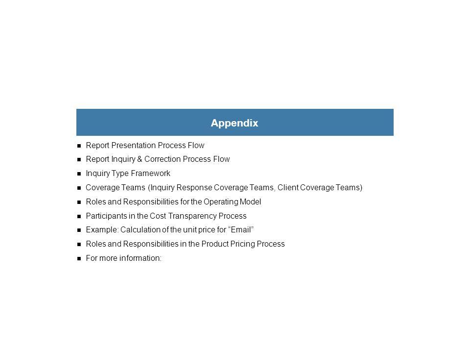 Appendix Report Presentation Process Flow