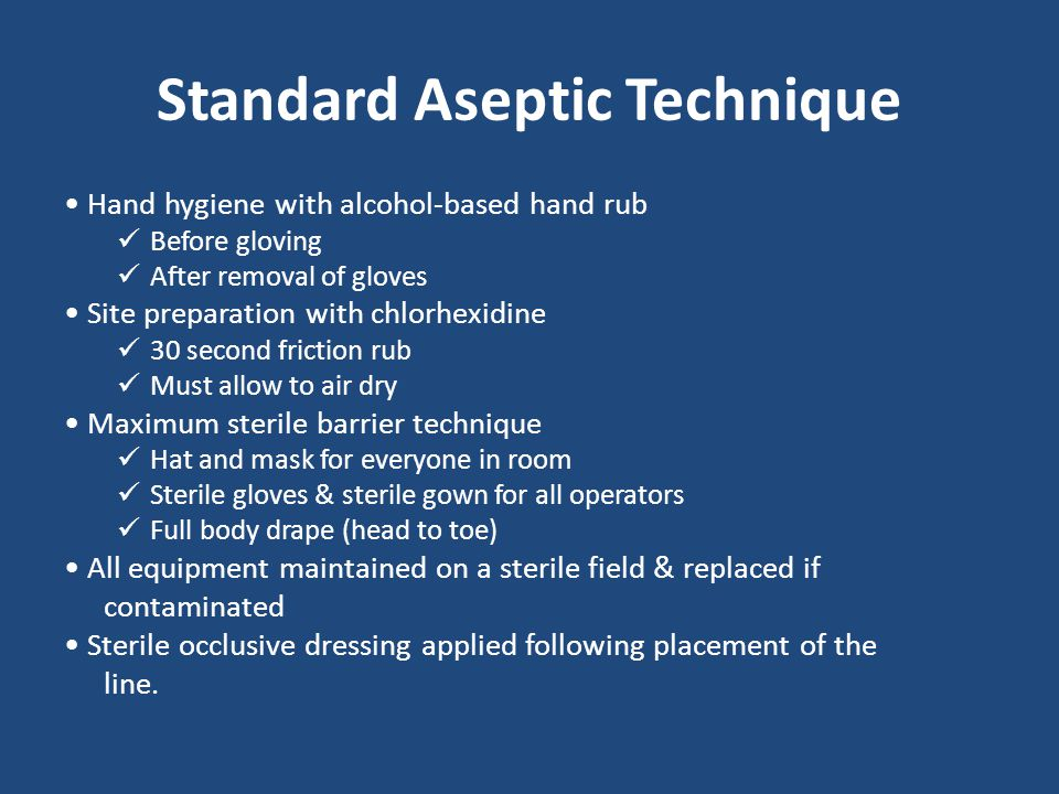 Standard Aseptic Technique
