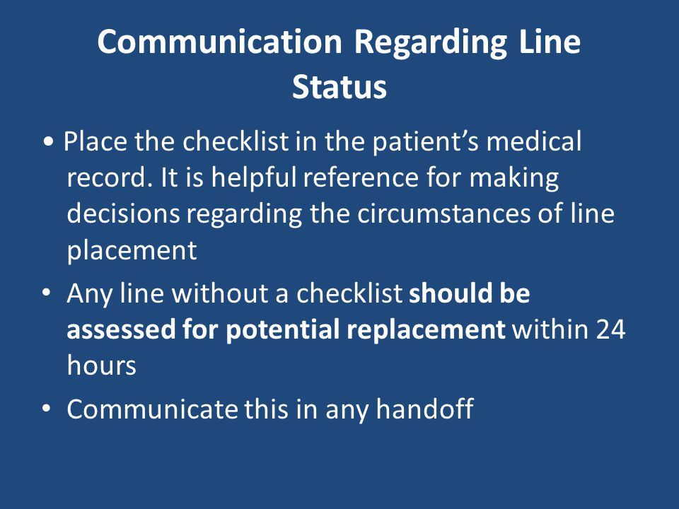 Communication Regarding Line Status
