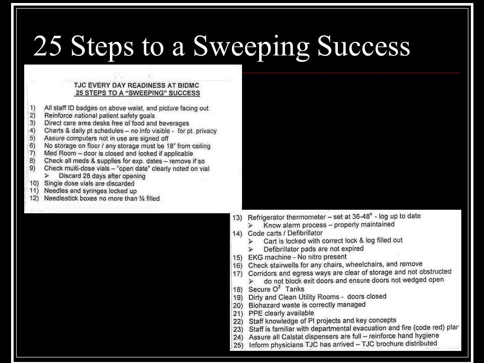 25 Steps to a Sweeping Success