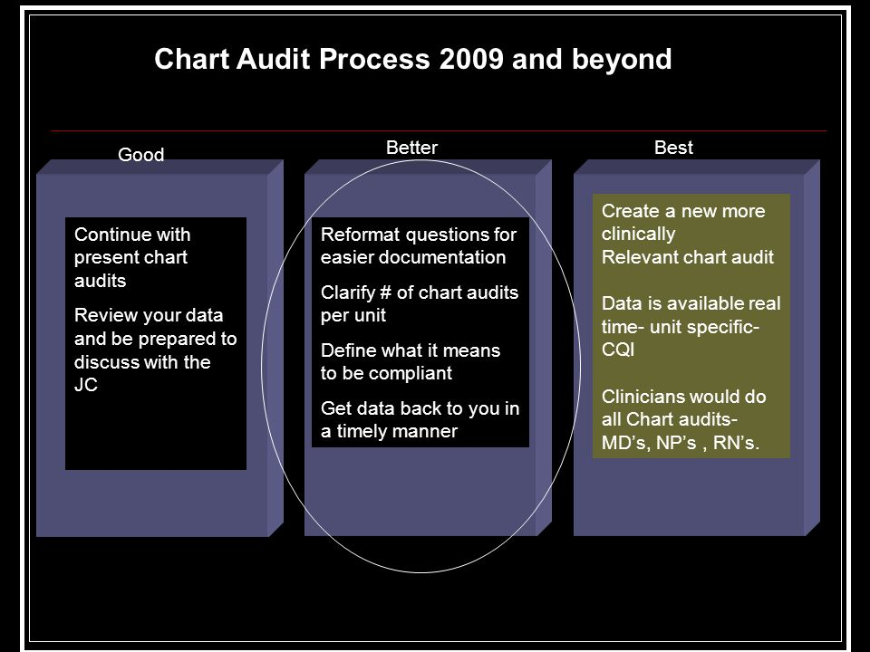 Chart Audit Process 2009 and beyond