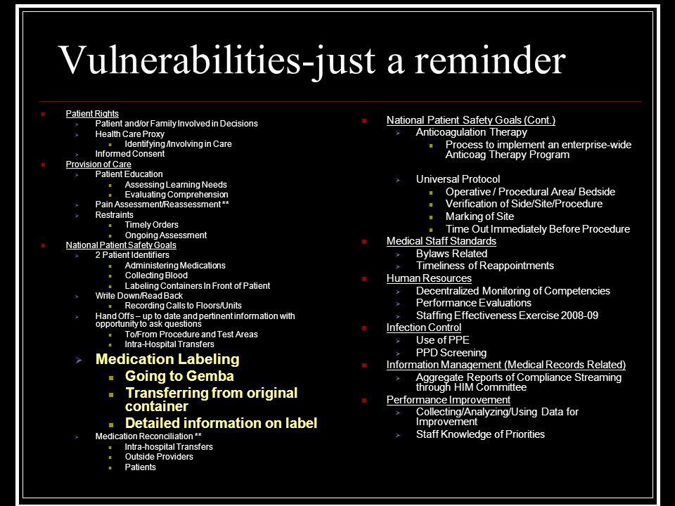 Vulnerabilities-just a reminder