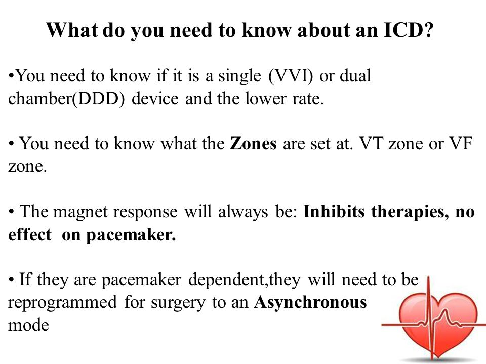 What do you need to know about an ICD