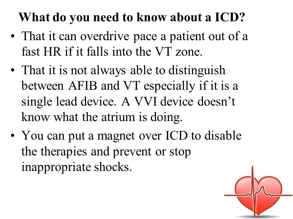 What do you need to know about a ICD