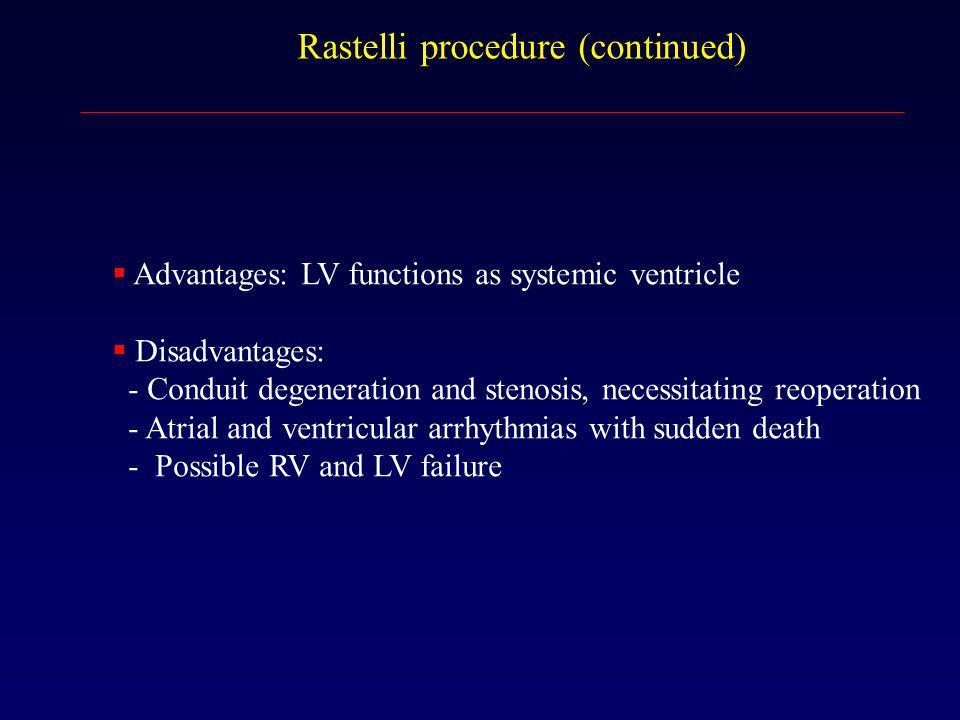 Rastelli procedure (continued)
