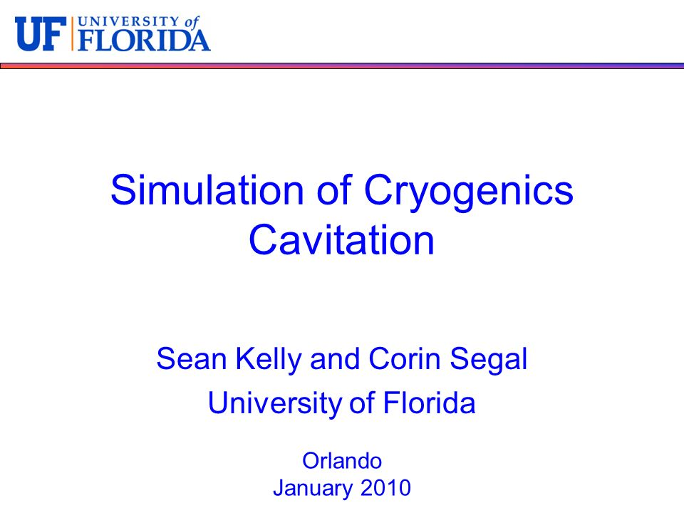 Simulation of Cryogenics Cavitation