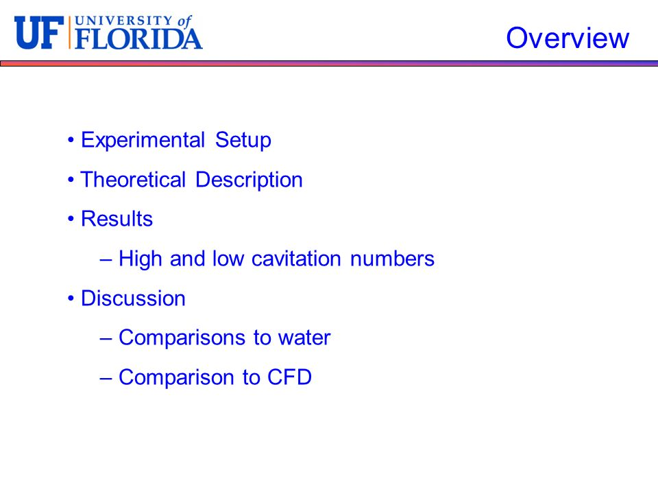 Overview Experimental Setup Theoretical Description Results