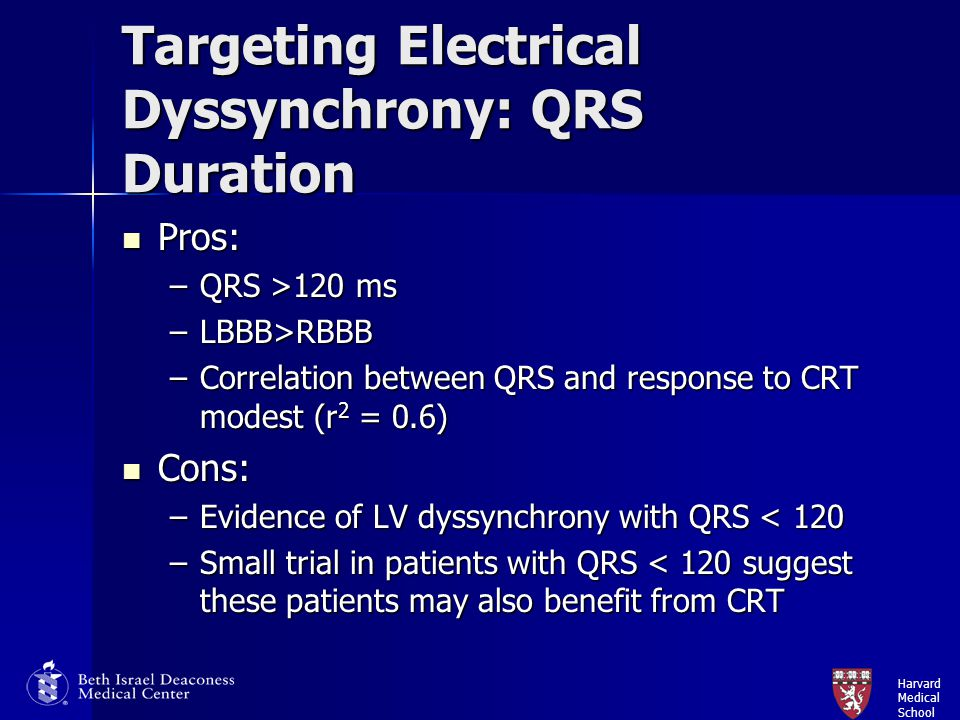 Targeting Electrical Dyssynchrony: QRS Duration