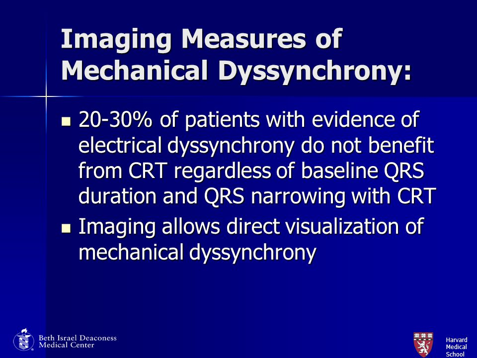Imaging Measures of Mechanical Dyssynchrony: