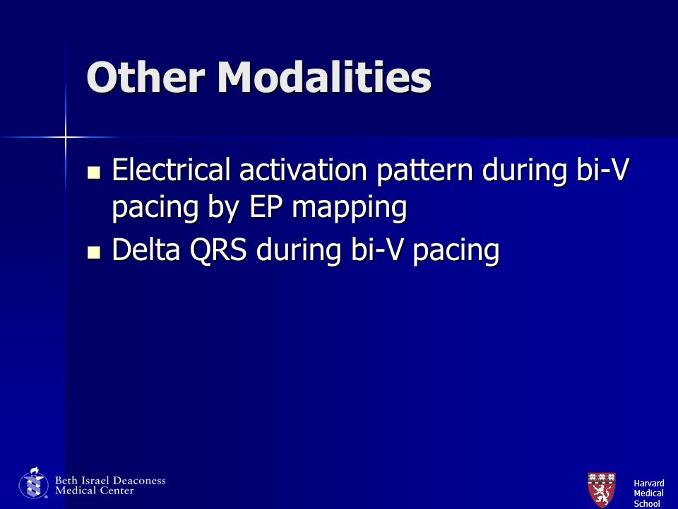 Other Modalities Electrical activation pattern during bi-V pacing by EP mapping.