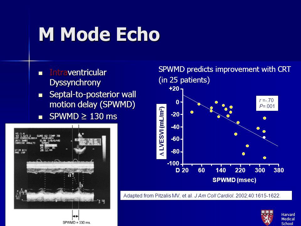 M Mode Echo Intraventricular Dyssynchrony
