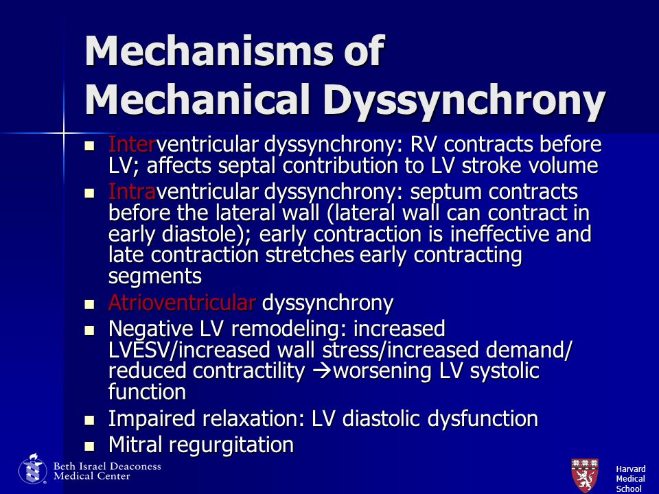 Mechanisms of Mechanical Dyssynchrony