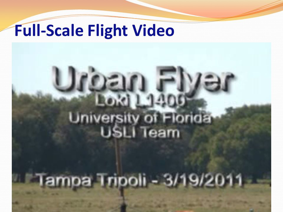 Full-Scale Flight Video