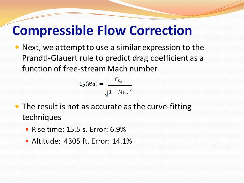 Compressible Flow Correction