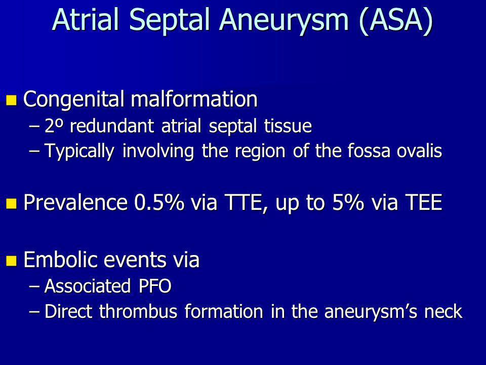Atrial Septal Aneurysm (ASA)
