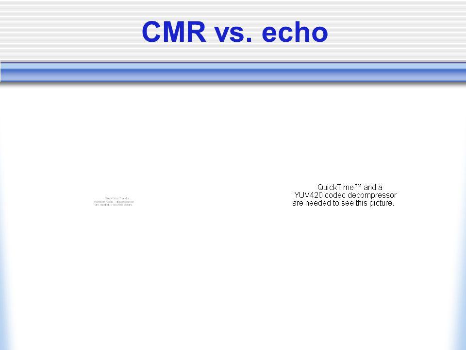 CMR vs. echo