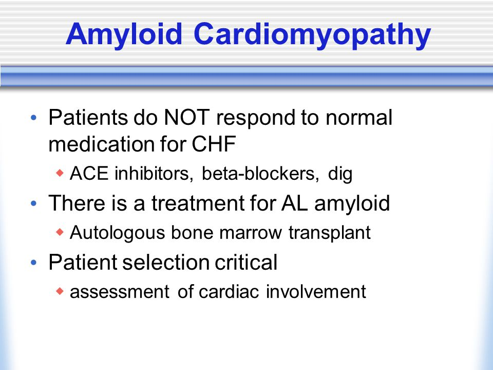 Amyloid Cardiomyopathy