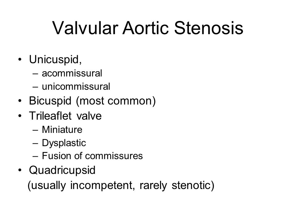 Valvular Aortic Stenosis
