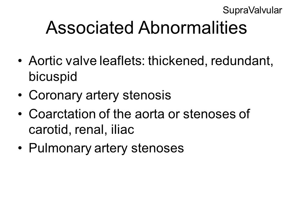 Associated Abnormalities